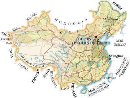 Cartina Geografica Della Cina.Cartina Della Cina