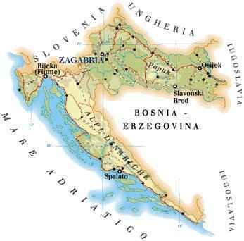 Croazia E Slovenia Cartina Geografica.Croazia Cartina Geografica Dettagliata