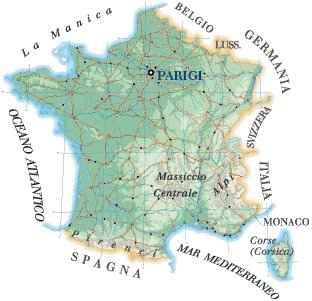 Immagini Della Cartina Della Francia.Cartina Della Francia