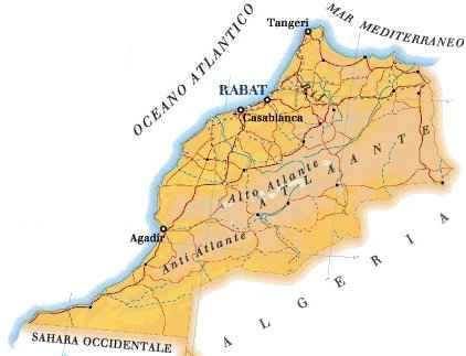Marocco Cartina Geografica Fisica.Cartina Del Marocco