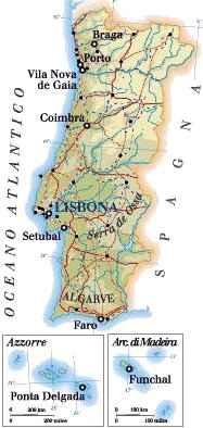 Cartina Dettagliata Del Portogallo.Cartina Del Portogallo