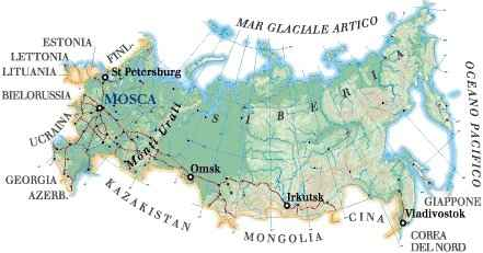 La Cartina Della Russia.Cartina Della Russia