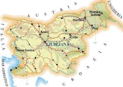 Cartina Della Slovenia E Croazia.Cartina Della Slovenia